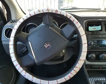 Feathery arrow steering wheel cover