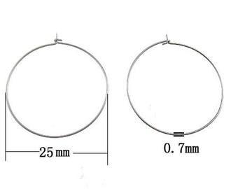 25/50pairs Stainless Steel hoop earring