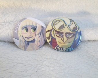 Pokemon Sun and Moon Lillie and Guzma Buttons