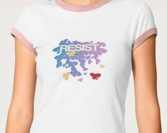 RESIST - Butterflies - Pastels T-Shirt