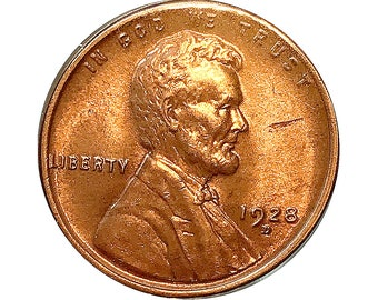 1928 D Lincoln Wheat Cent - Gem BU / MS RD / Unc