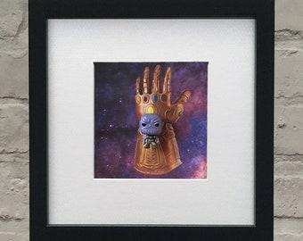 Avengers Infinity War Inspired 3D Thanos Framed Artwork