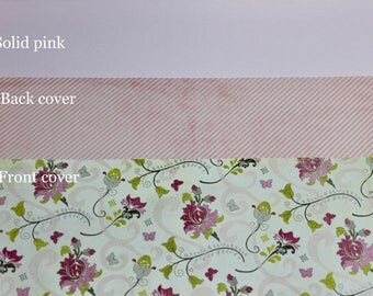 Pink Floral Planner Cover Custom, Happy planner cover, ARC cover, Discbound, Any size, custom planner cover-Pink, Green, Gray