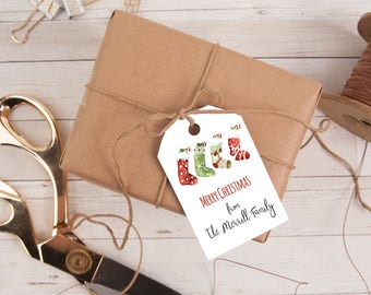 Personalized Gift Tag, Stockings