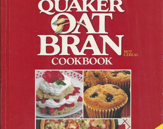 Quaker Oat Bran hot cereal Cookbook 1989
