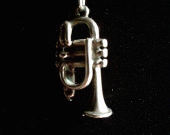 3D Antiqued Sterling Silver Trumpet (1)