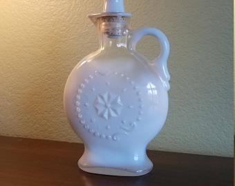Vintage Fenton Milk Glass Whiskey Decanter Decor bottle