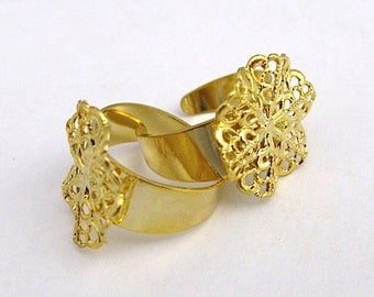5 supports ring filigree 20 mm.