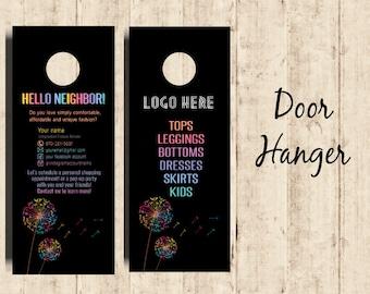 LLR Door Hanger LLRoe Home Office Approved Fonts and Colors Fashion Consultant Digital Printable - Dandelion