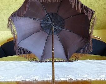 1845 Romantic Period Umbrella, antique parasol, antique umbrella, Victorian Umbrella