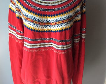 Vintage Womens Pendelton Knit Nordic Style Sweater Size XL