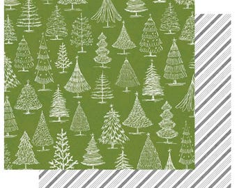 Teresa Collins - Candy Cane Lane Collection - 12 x 12 Double Sided Paper - O Christmas