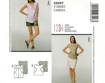 Summer Sale Burda Style 7518 Sewing Pattern for Misses' T-Shirt - Uncut - Size 8, 10, 12, 14, 16, 18, 20