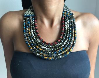 Necklace Maasai wax