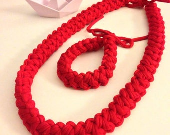 Crochet necklace and bracelet strap