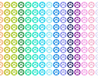 Paw Print Icon Planner Stickers