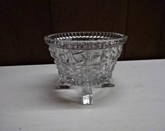 Pressed Glass Sugar Bowl/Vintage