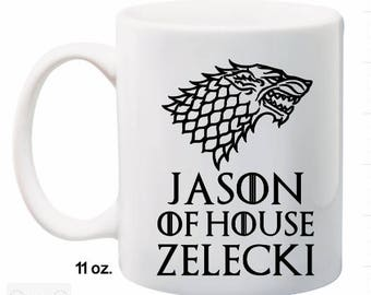Personalized Game of Thrones Mug