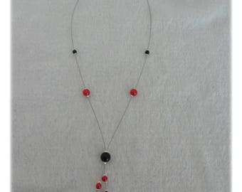 Necklace red and black wedding party