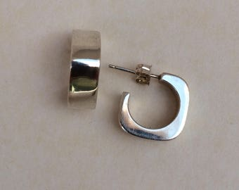 Silpada Sterling Chunky Small Square Hoop Earrings