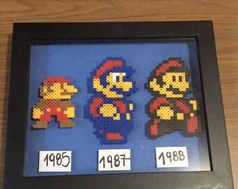 Super Mario Nintendo Shadow Box Frame