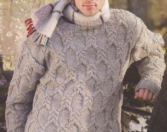 The sweater is made of natural yarn 100% wool sweater winter sweater handmade sweater goat sweater mens womens unisex
