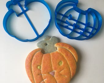 Pumpkin Mouse Cookie Cutter Set