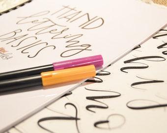 Hand Lettering Basics Kit, Hand Lettering, Calligraphy, Book, How To, Lettering, Handmade, Guide, Kit