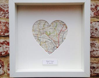 Personalised Map Heart Frame