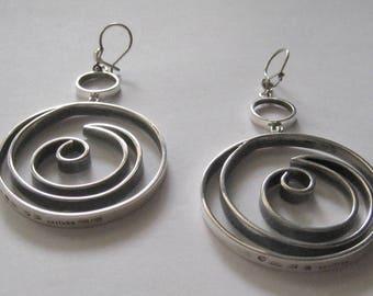 Silver earrings, Kaija Aarikka, Finland, 1966