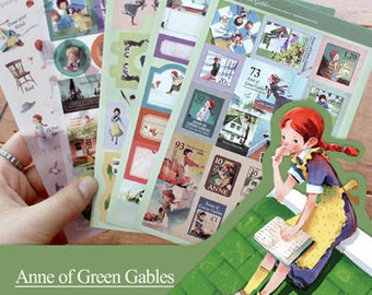 "Stickers 5 sheets set ""Anne of green gables"""