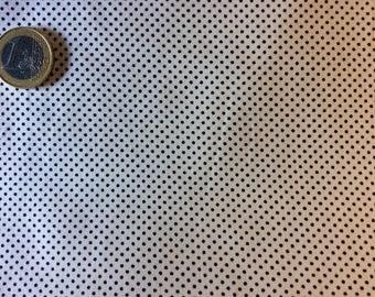 High quality cotton poplin, black/white polka dots
