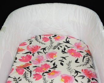 Bassinet Sheet -  Aquarelle Study Tint  - Moses basket sheet