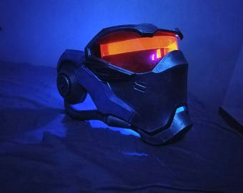 soldier 76 mask NO LED overwatch cosplay