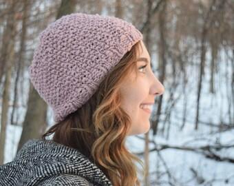 Blush Seed Stitch Beanie Hat