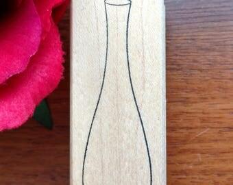 Tall Vase Rubber Stamper, Flower Vase, Skinny Flower Vase, Empty Flower Vase, Bud Vase