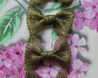 Lot 8 knots gold polyester 6cm