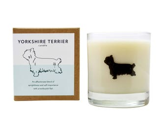 Yorkshire Terrier Soy Candle Soy Candle Hostess Gift Yorkie Candle Yorkie Rescue Candle Dog Gift The Original Scripted Fragrance Candle