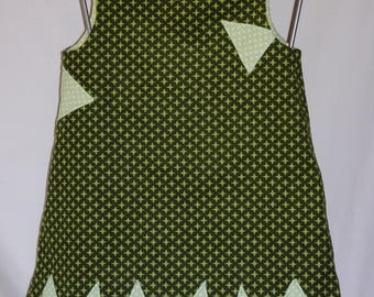 Dress sleeveless, thin velvet stripes, single copy