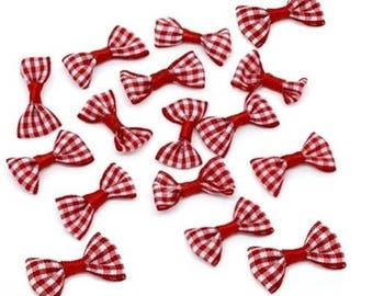 10 knots butterflies red embellishment Scrapbooking 30 x 15 mm