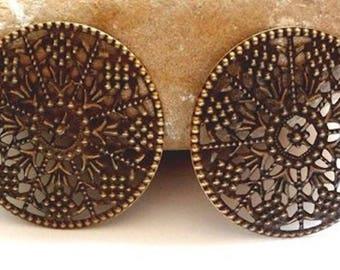 2 connectors print bronze embellishment 48 mm