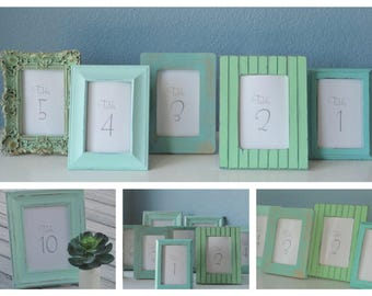 Wedding Table Number Picture Frames