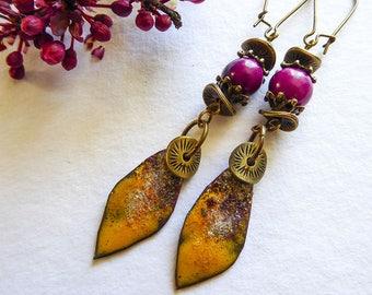 Tropical fruit salad earrings