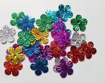 Flower sequins, Petal flower sequins, Holographic sequins, Sequins, Flower, Flowers, Holographic, Sequin art, Embellishments, Scrapbooking
