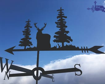 DEER 2 Metal Plasmacut Wind Direction Roof Decor