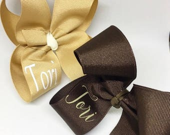 Custom Bow, Bows for girls, name bow, Hair clips for girls, Girl bows, Hair bows, Monogrammed Bows, personalized bows, girls bows