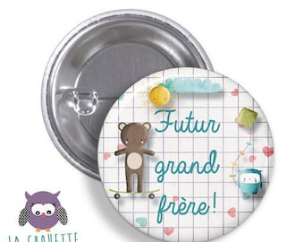 Future big brother button - large format - 45 mm-metal