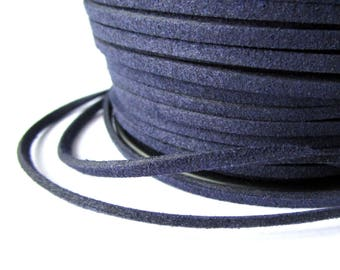 5 m - Navy - suede 3 mm