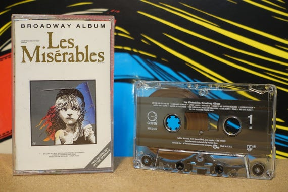 Les Miserables Broadway Album by Alain Boublil And Claude-Michel Schönberg Vintage Cassette Tape