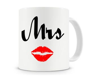 Mrs Mug, Wedding Mugs, Mr and Mrs Mug Set, Anniversary Mugs, Gift For Couples,Wedding Mug, Wedding Gifts, Matching Mr And Mrs Mug